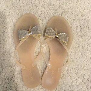 Aldo bow jellie sandals